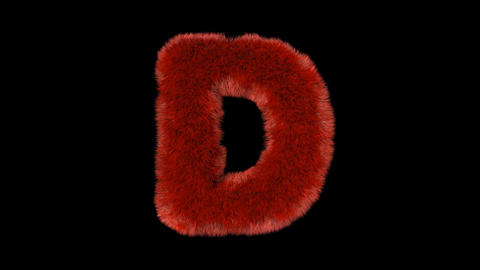 Fluffy hair fur text typography with alpha channel D Animation