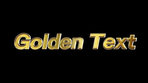Golden text 02 After Effects Animation Preset