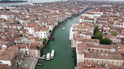Venice - Dron canal view, no traffic because of lockdown 2020 Live Action