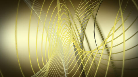 Fantastic video animation with moving particle object, loop HD Animation