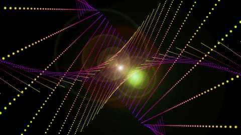 Fantastic video animation with moving particle object and lights, loop HD CG動画