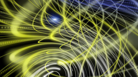 Futuristic eco video animation with stripe object and light in motion, loop HD CG動画