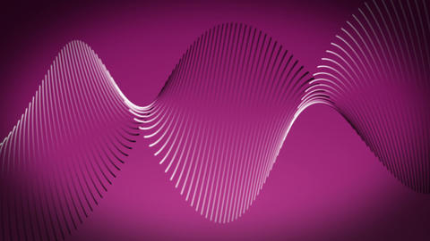 Romantic video animation with wave object in motion, loop HD CG動画