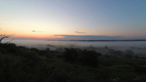 Mist haze sunrise, 4k footage Live Action