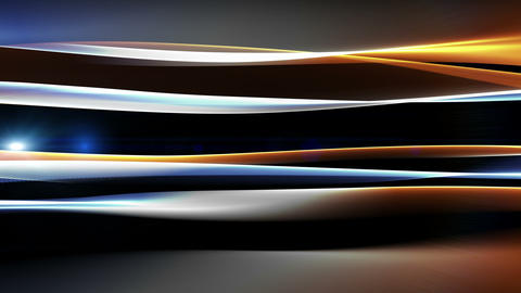 Fantastic video animation with wave object and lights in motion, loop HD Animation