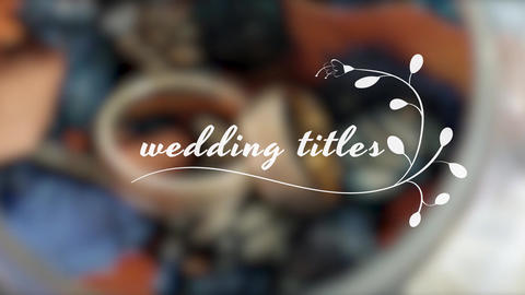 Wedding Titles MOGRT Motion Graphics Template