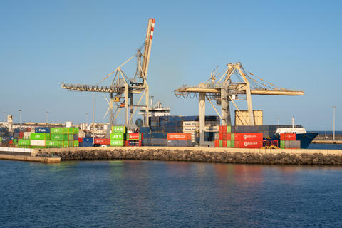 Port of Arrecife, Lanzarote, Spain フォト