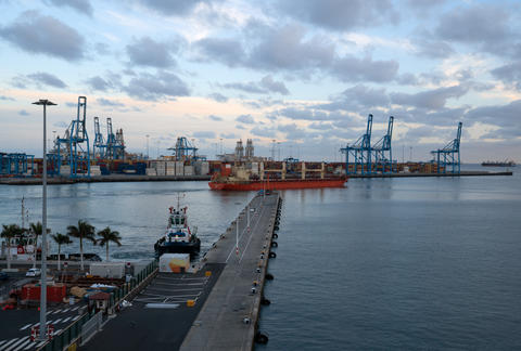 Global trade logistics, Port of Las Palmas, Grand Canary, Spain フォト