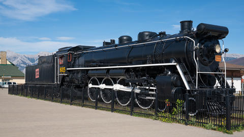 Steam locomotive, Jasper, Canada フォト