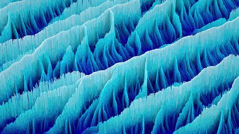 Blue gradient waves. Abstract topographic seamless loop animation Animation