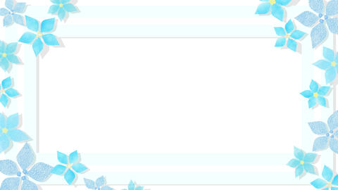 Blooming Animation Blue Frame CG動画