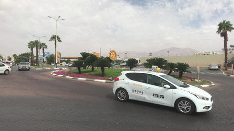 Eilat, Israel - transport moves through the streets of the resort town part 9 Live Action