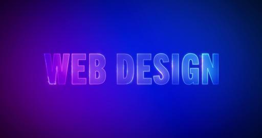 Web design. Electric lightning words. Logotype Animation