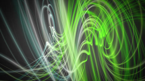 Fantastic eco video animation with wave object in motion, loop HD Animation