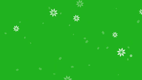 Snowfall motion graphics with green screen background Animation