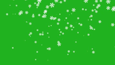 Falling snow flakes motion graphics with green screen background Videos animados