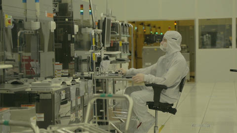 Semiconductors manufacturing facility Footage