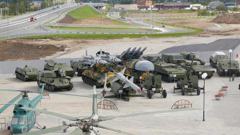 Machinery air defense. Pyshma, Ekaterinburg, Russia Live Action