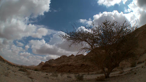 Clouds time lapse over the Negev desert, Israel Footage