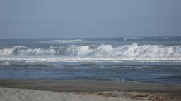Sea waves at the beach in Hamamatsu, Shizuoka Prefecture, Japan Footage
