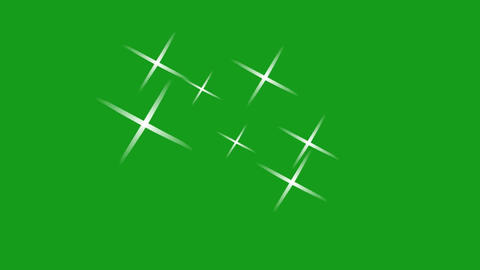 Shining stars motion graphics with green screen background Animation