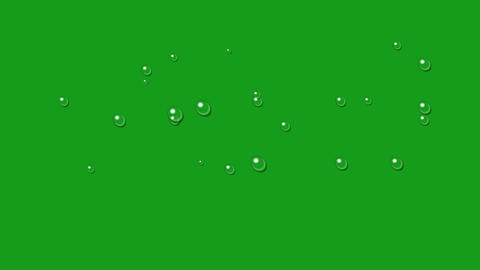 Water drops motion graphics with green screen background Videos animados