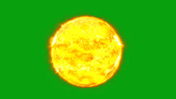 Burning sun motion graphics with green screen background Videos animados