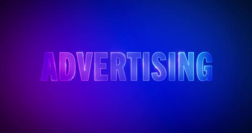 Advertising. Electric lightning words. Logotype Animation