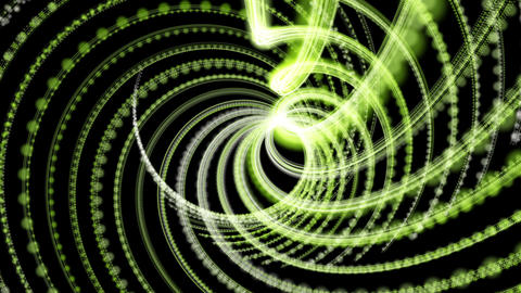 Fantastic eco video animation with moving particle stripe object, loop HD Animation
