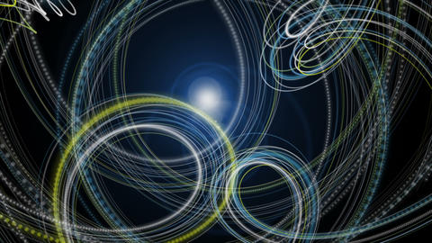 Futuristic eco video animation with particle stripe object and light in motion, loop HD Animation