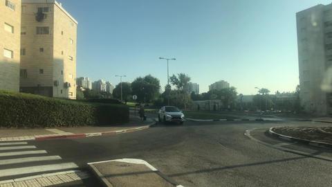 Haifa, Israel - city bus traffic at speed part 14 Live Action