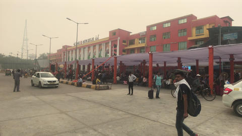 New Delhi, India, November 11, 2019, the territory of the railway station with Live Action