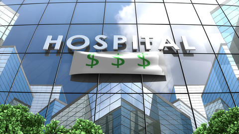 Hospital building Expensive healthcare Animation