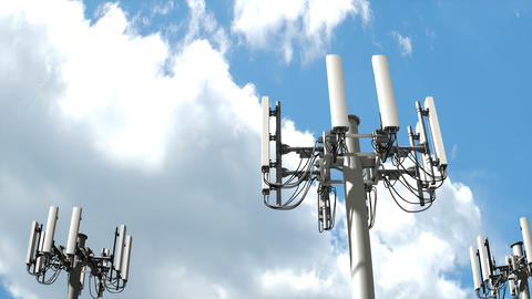 Cell tower, Mobile telecommunication tower Animation
