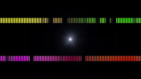 Powerful light stripe video animation in motion, loop HD Animation