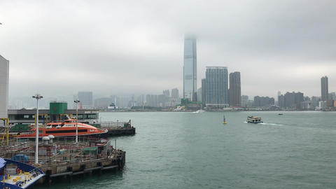 Hong Kong, China, A large body of water with a city in the background Acción en vivo