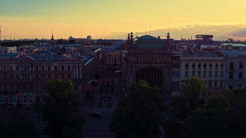Aerial view of St. Petersburg 161 Acción en vivo