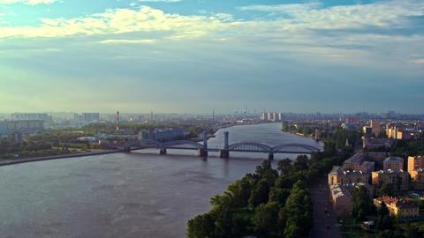 Aerial view of St. Petersburg 162 Acción en vivo