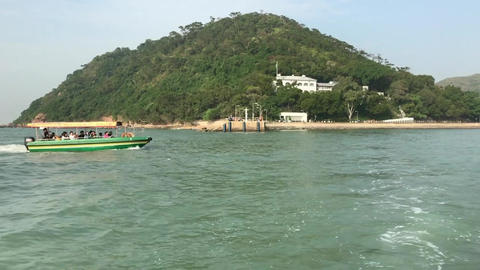 Hong Kong, China, A small boat in a body of water Acción en vivo