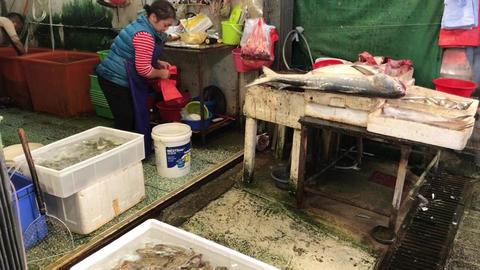 Hong Kong, China, November 20 2016: A group of people preparing food in a Live Action