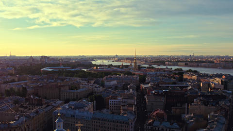 Aerial view of St. Petersburg 151 Acción en vivo
