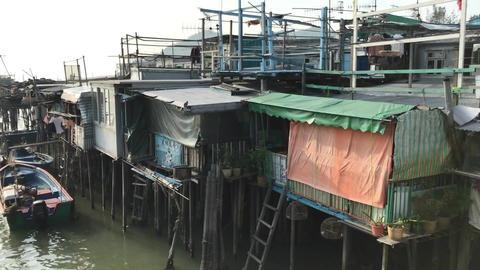Hong Kong, China, A boat docked at a dock Acción en vivo