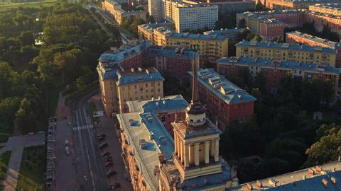Aerial view of St. Petersburg 168 Acción en vivo