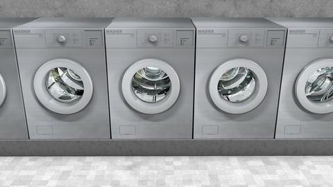 Public laundry machines animation Animation
