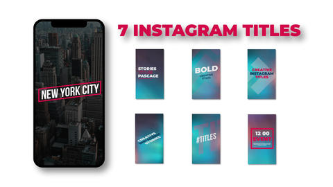 Instagram Titles Apple Motion Template