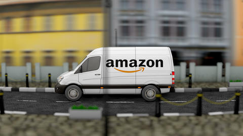 Editorial Amazon van delivery vehicle Animation