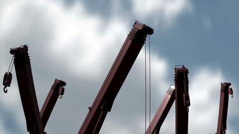 Idle construction cranes animation Animation