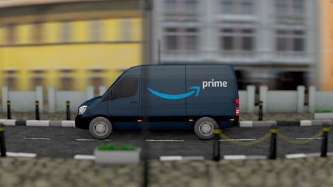 Editorial Prime van delivery vehicle Animation