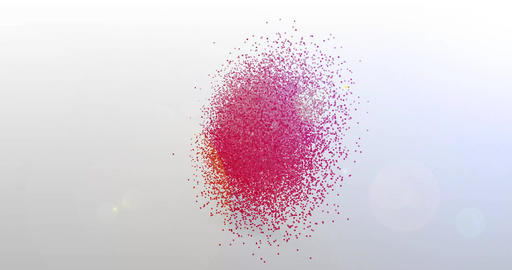Coaching. Particle Logo. Text Animation Animation