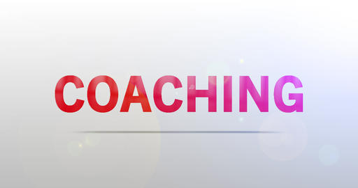 Coaching. Particle Logo. Text Animation CG動画